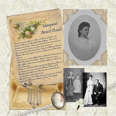 Margaret Arnott (Oviatt) Small-Ashton Heritage Layout