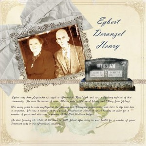 Digital Scrapbooking: Egbert Deranzel Henry Heritage Layout