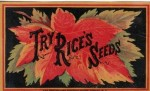 Rice's Seed Gardens - Rice Seeds Advertising Card