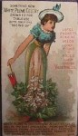 Celery Lady - Rice Seeds Advertising Card