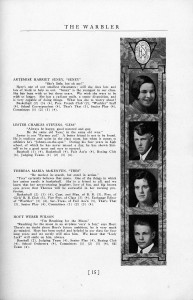 Genealogy Using Yearbooks - Senior Page from the Warbler, Walpole, New Hampshire, 1931